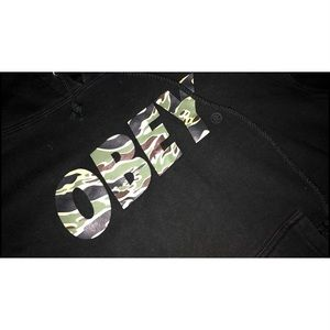 🔥MAKE AN OFFER! BLACK CAMO OBEY HOODIE🔥